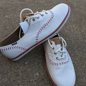 Women's 'Baseball' Keds Sneakers Leather 11W NEW